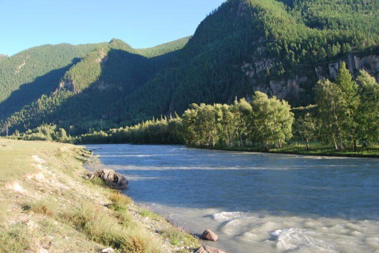У реки Чуя